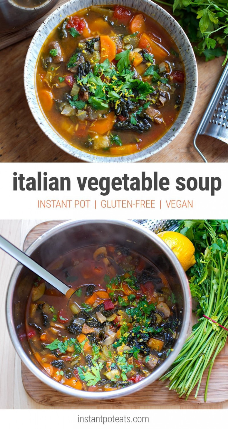 Quick & Easy Italian Farmhouse Vegetable Soup (Instant Pot ..
