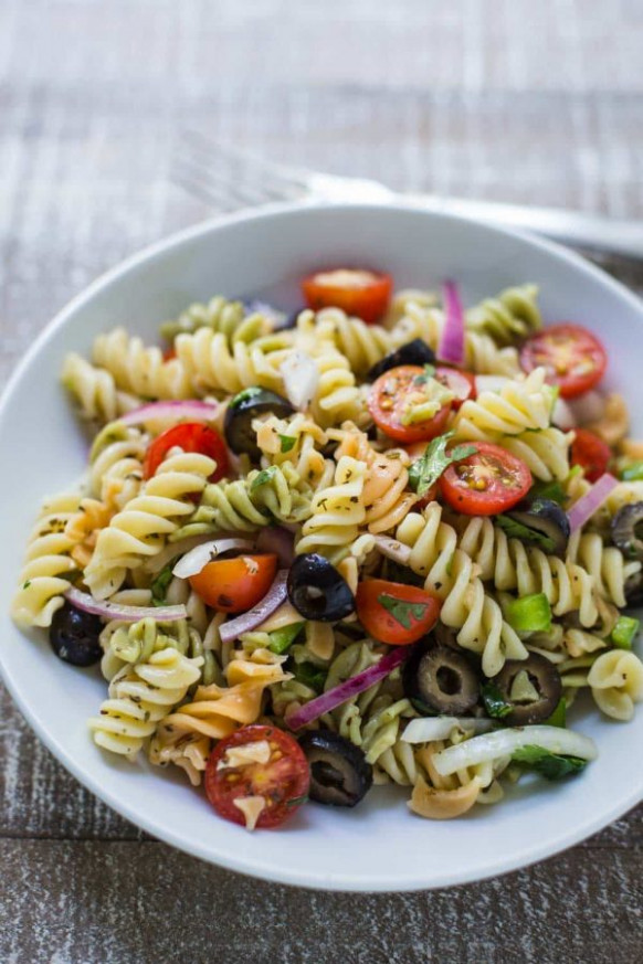 Quick & Easy Pasta Salad | Food with Feeling - salad recipes vegetarian healthy