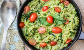 Quick & Easy Pesto Zoodles - Almost Supermom