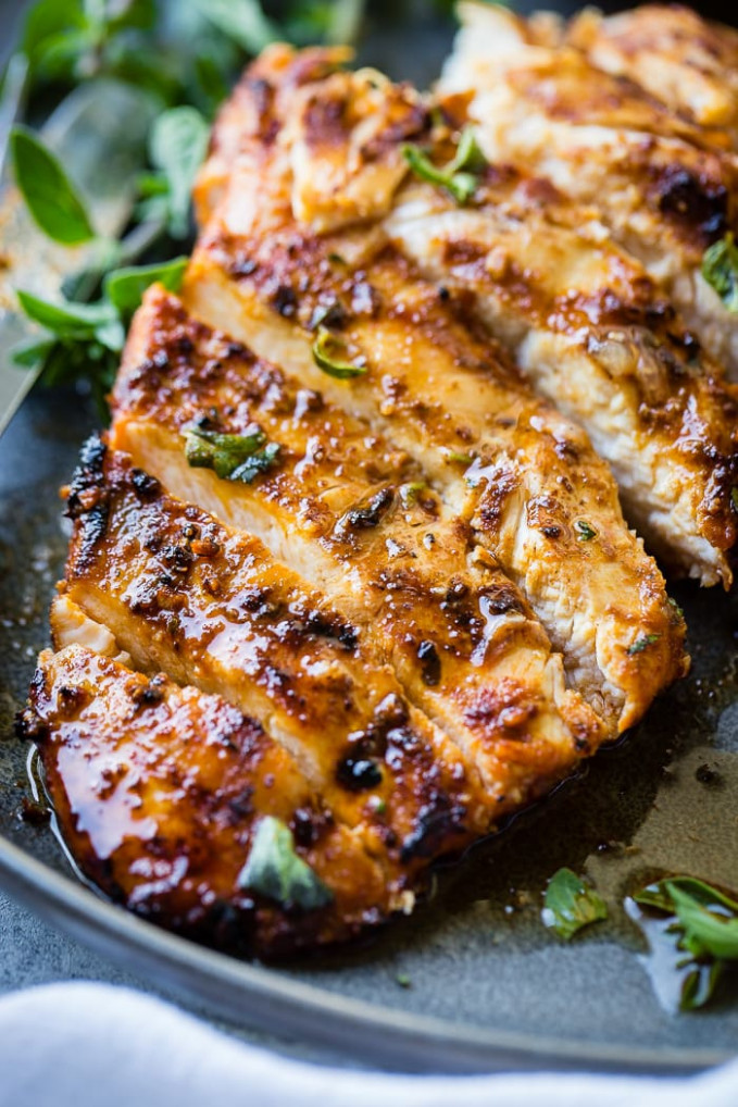 Quick Grilled Chicken with Oregano Recipe - Oh Sweet Basil - recipes of grilled chicken