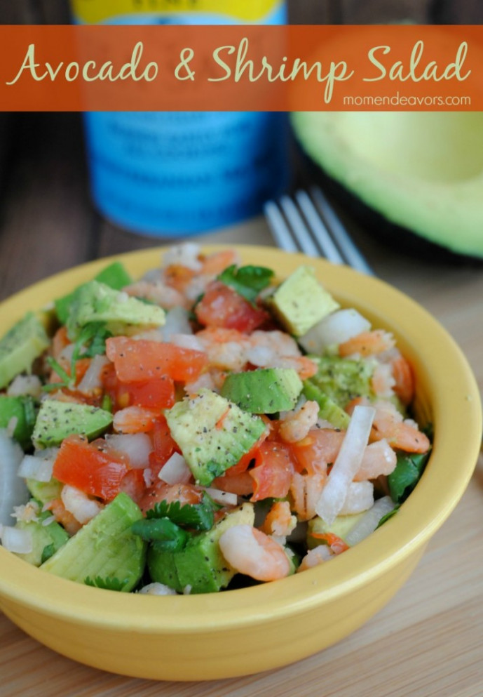 Quick & Healthy Recipe: Avocado & Shrimp Salad - recipes quick healthy dinner