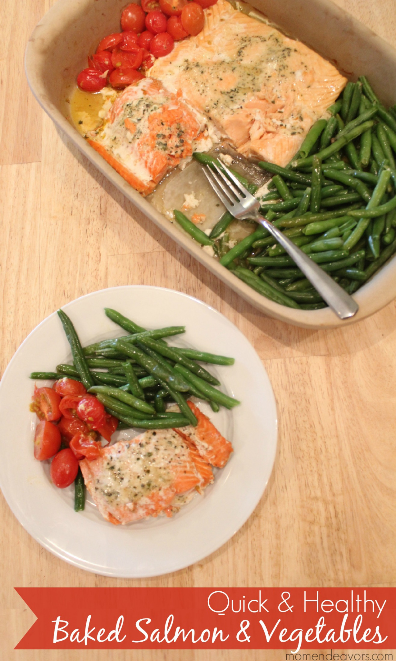 Quick & Healthy Recipe: One Pan Baked Salmon & Vegetables - recipes quick and healthy