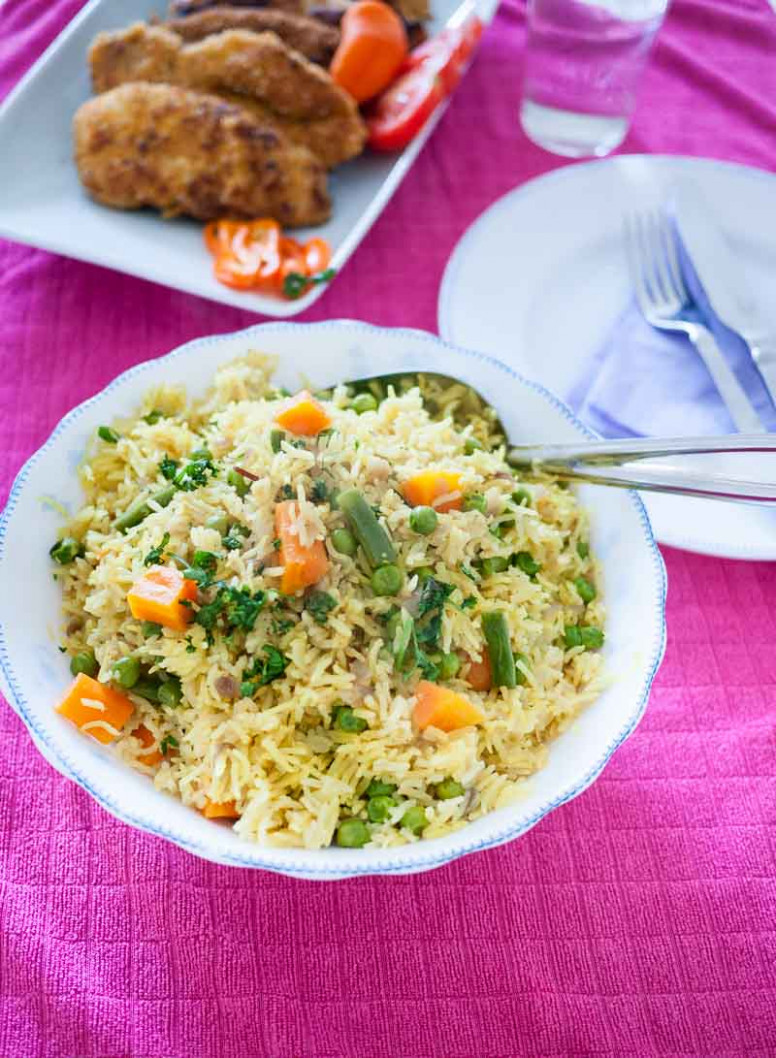 Quick One Pot Vegetable Rice Recipe - one pot rice recipes vegetarian indian