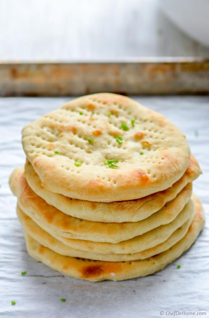 Quick Oven Baked Naan Bread - quick bake recipes dinner