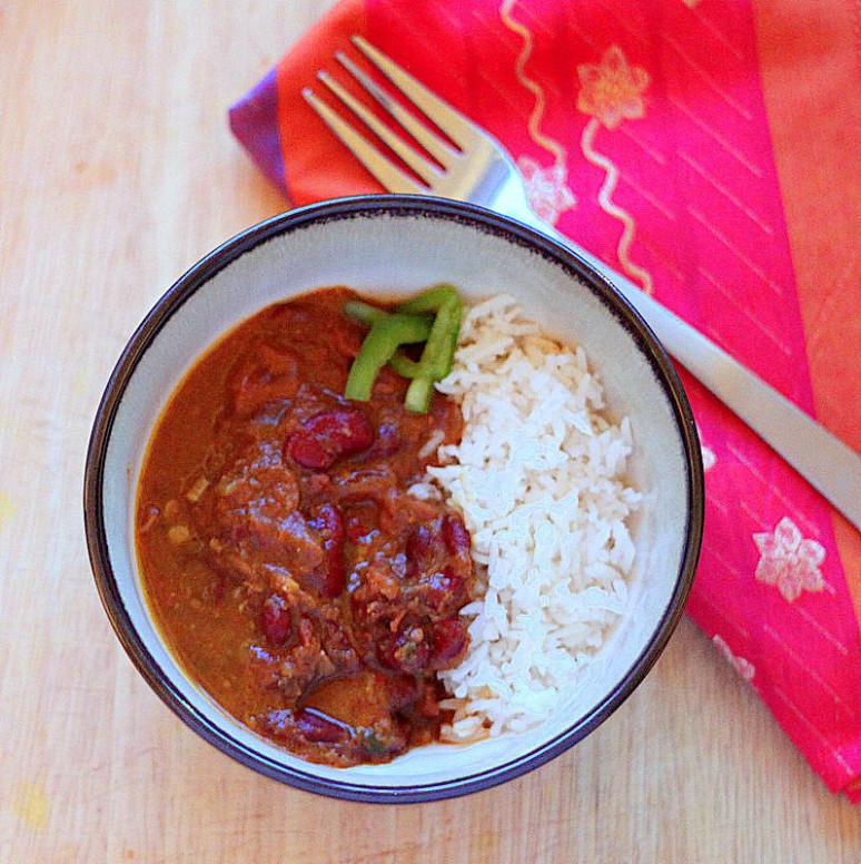 Quick Rajma (Red Kidney bean curry). Vegan, Glutenfree ..