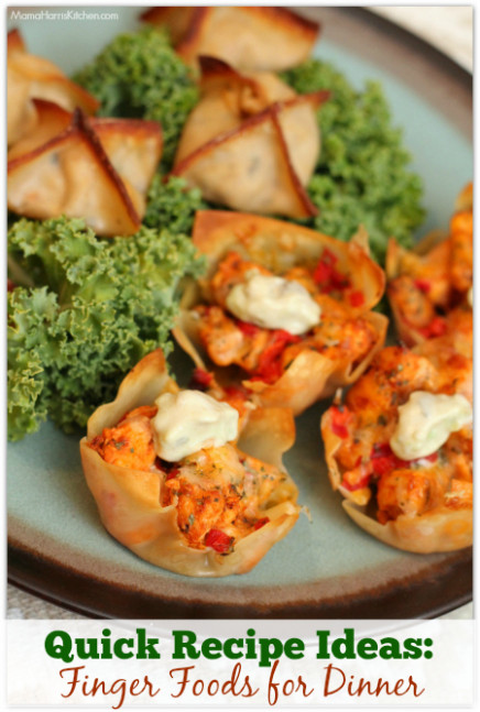 Quick Recipe Ideas: Finger Foods For Dinner (with Chicken!) - Quick Finger Food Recipes