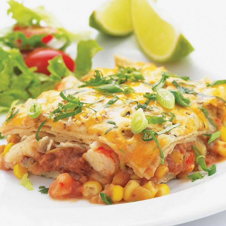 Quick Shrimp Enchilada Bake - healthy recipes enchilada casserole