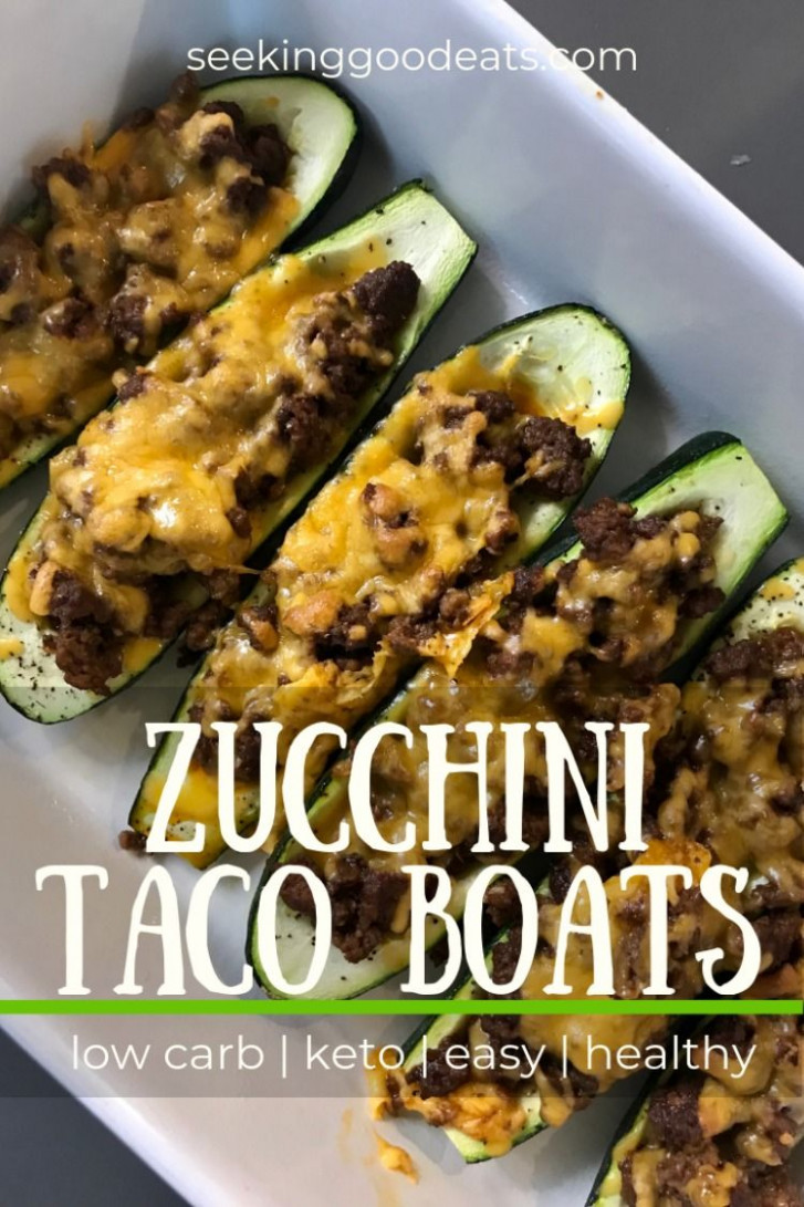 Quick Stuffed Zucchini Taco Boats - healthy dinner recipes zucchini