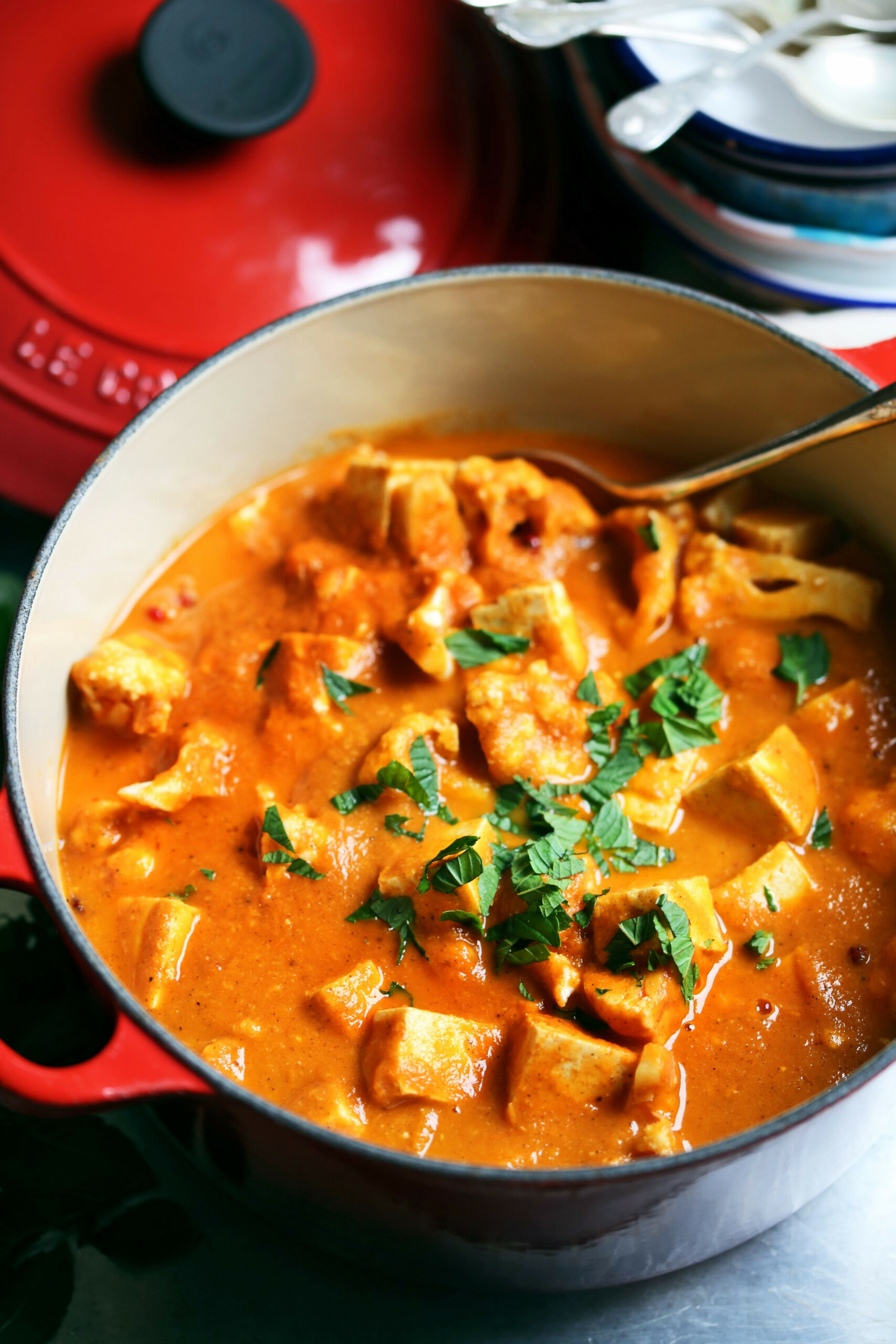 Quick Tofu Cauliflower Vegetable Korma Recipe | Vegan ..