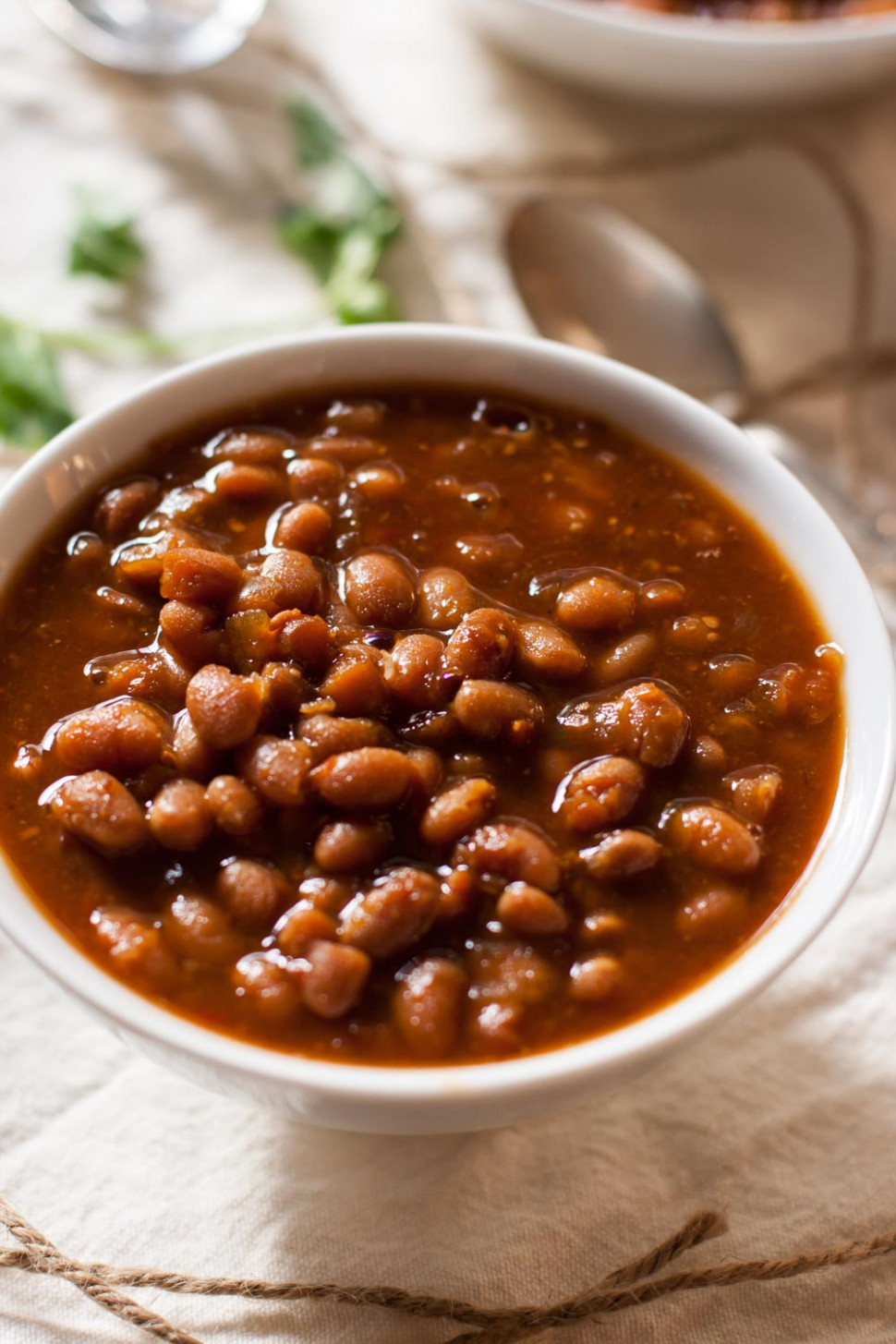 quick vegan baked beans - vegetarian recipes in slow cooker