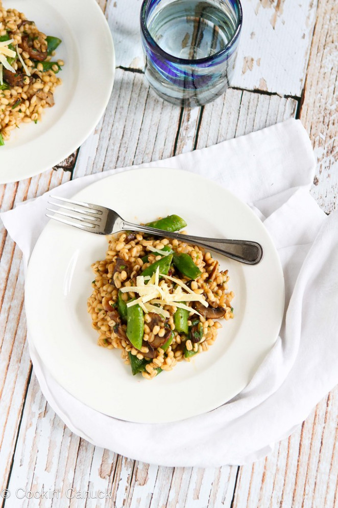 Quick Vegetarian Barley Risotto Recipe | cookincanuck