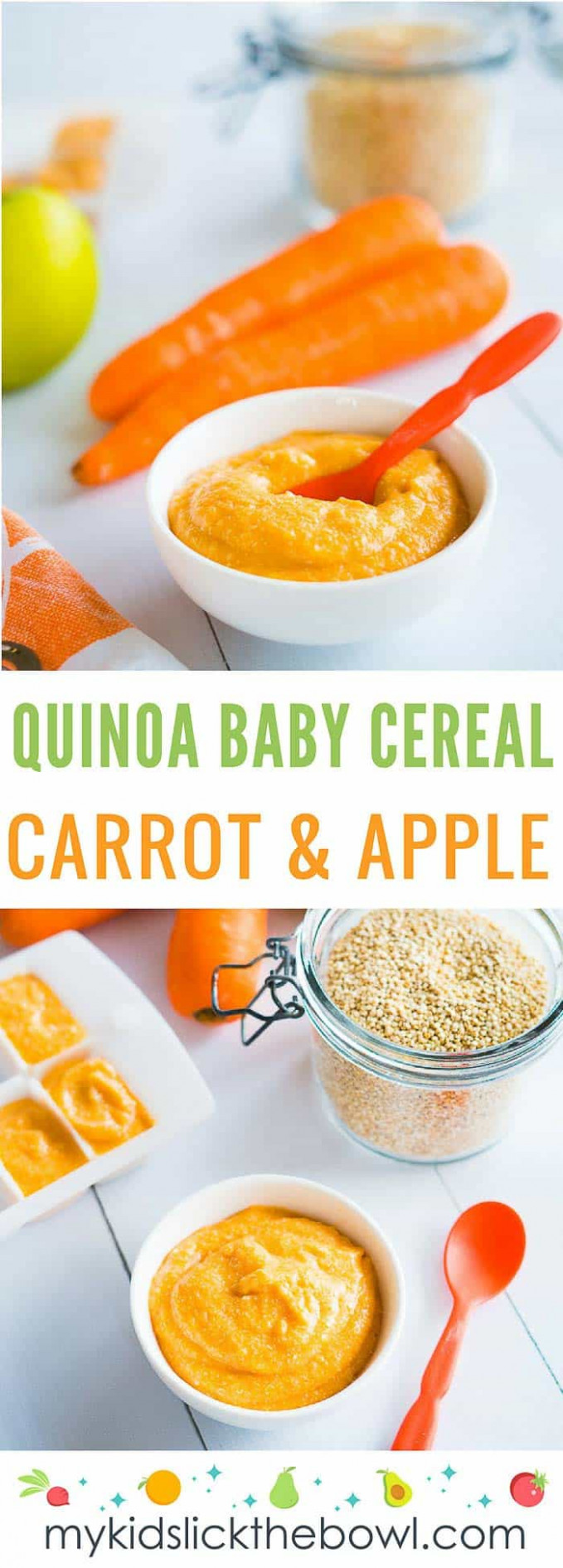 Quinoa Baby Cereal - Carrot & Apple - baby food recipes
