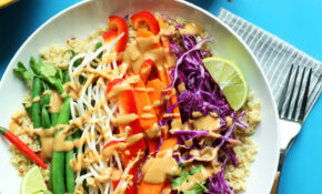 Quinoa Gado Gado Bowl (13 Minutes!) – Healthy Recipes Vegan