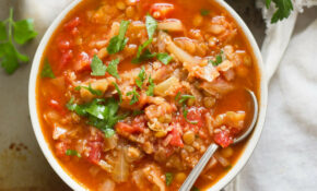 Quinoa & Lentil Cabbage Roll Soup – Recipes With Cabbage Vegetarian