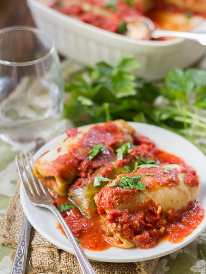 Quinoa & Lentil Stuffed Vegan Cabbage Rolls ..