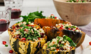 Quinoa Salad Stuffed Acorn Squash – Recipe Vegetarian Quinoa Stuffing