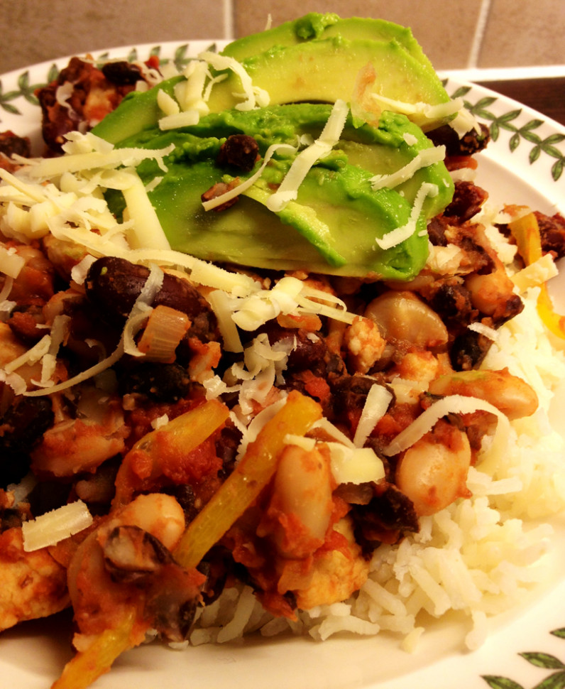 Quorn 'Chicken' And Beans On Rice - Quorn Recipes Chicken