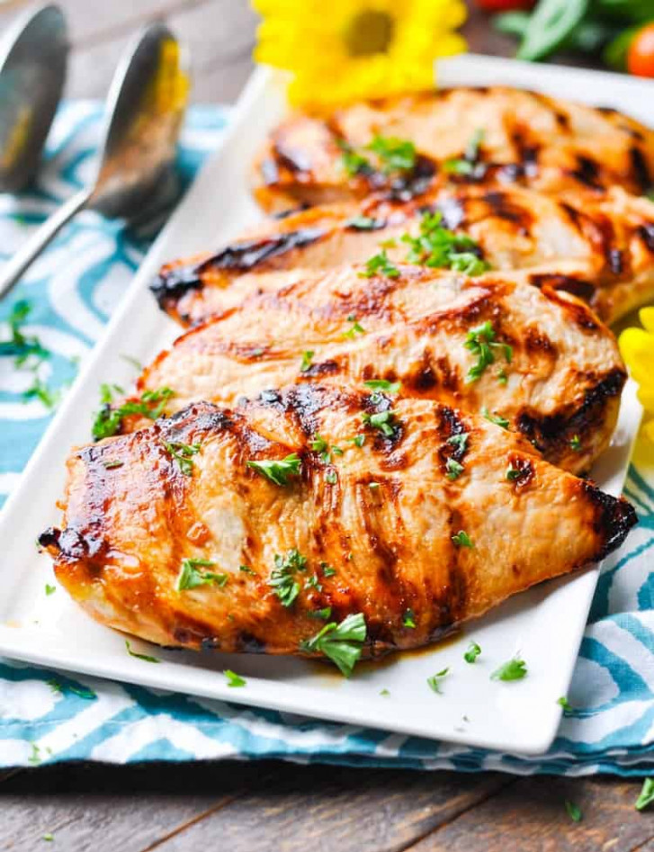 """""""No Work"""" Marinated Chicken - The Seasoned Mom - recipes for healthy chicken"""