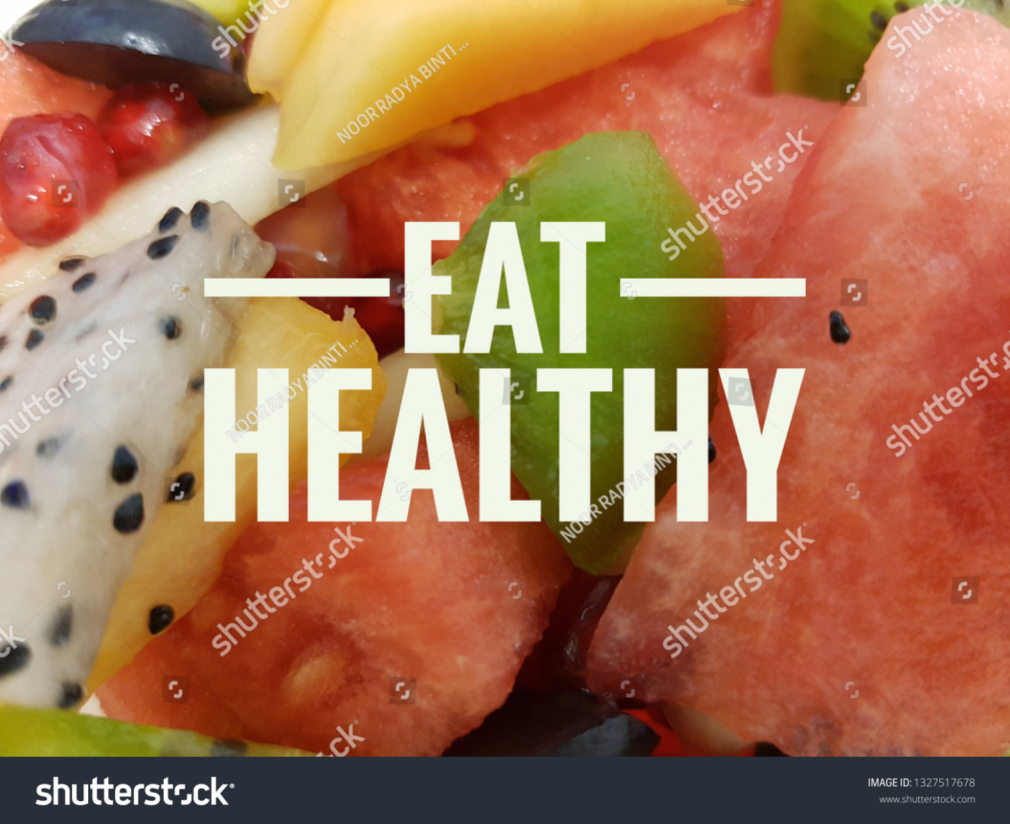 Quotes On Eat Healthy Image Various Stock Photo (Edit Now ..