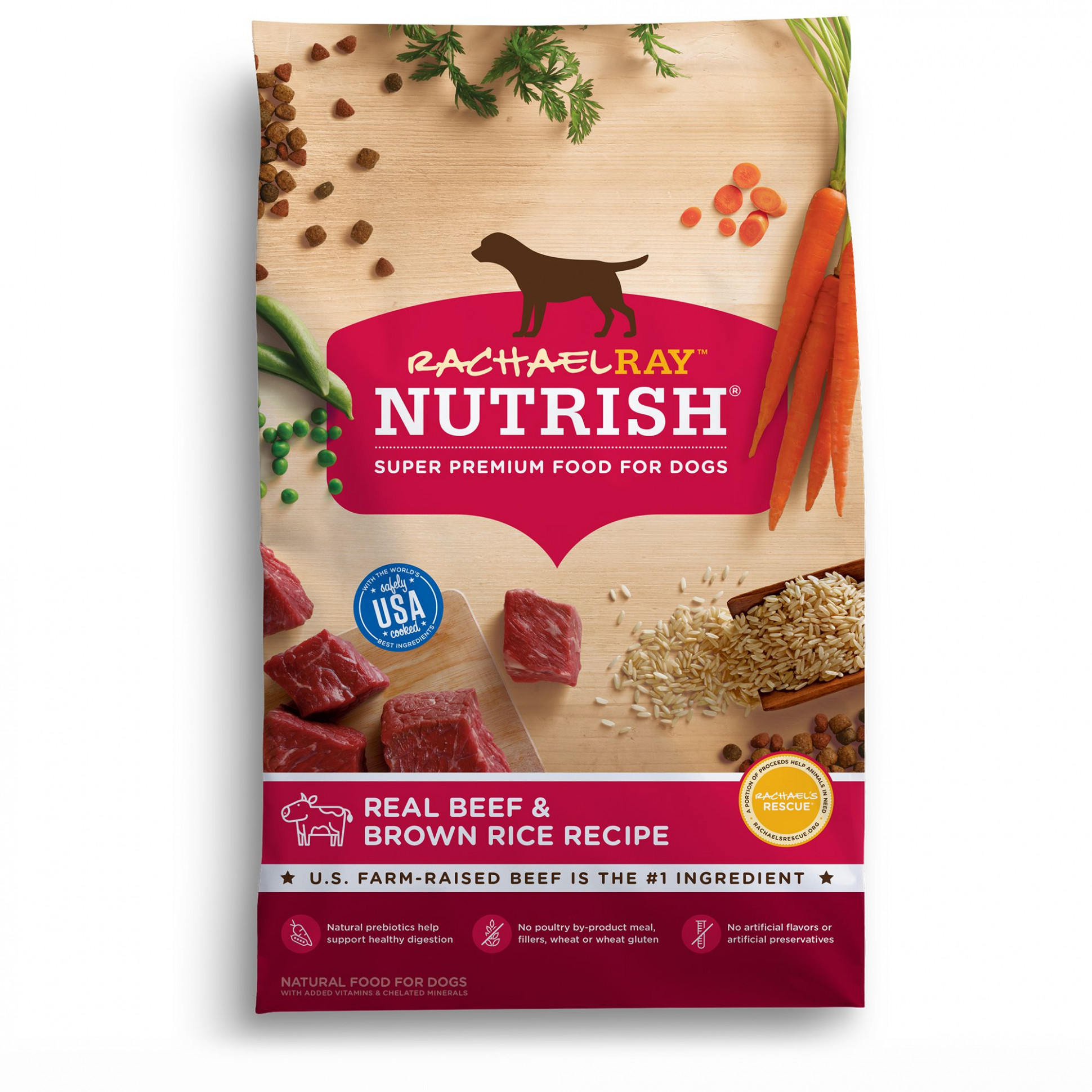 Rachael Ray™ Nutrish® Dog Food - Natural, Beef & Brown Rice Recipe - recipes for dog food