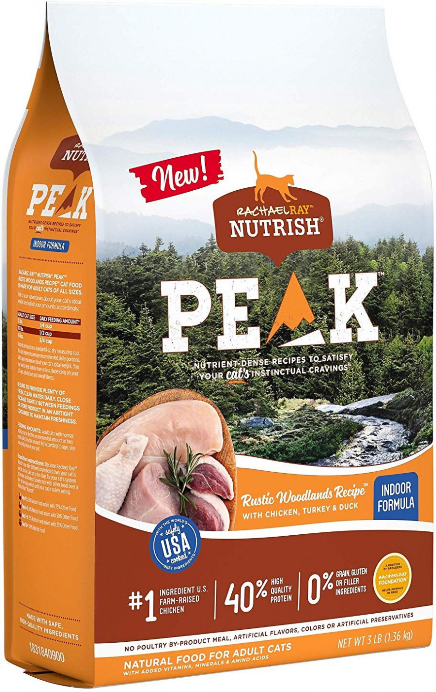 Rachael Ray Nutrish PEAK Rustic Woodlands Recipe with Chicken, Turkey &  Duck Dry Cat Food, 12-lb bag - recipes rachael ray chicken