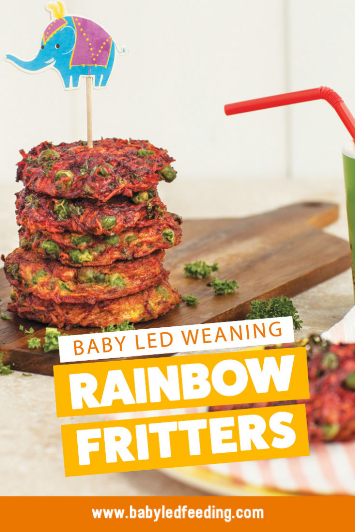 Rainbow Fritters Baby Led Weaning Recipe - recipes baby food
