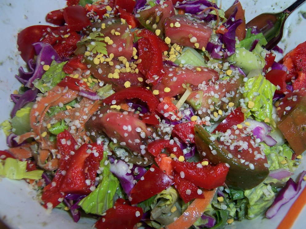 Rainbow Salad - raw food recipes