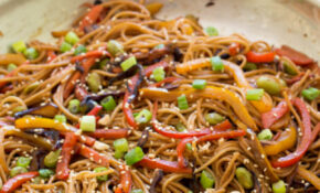 Rainbow Vegetable Noodle Stir-Fry
