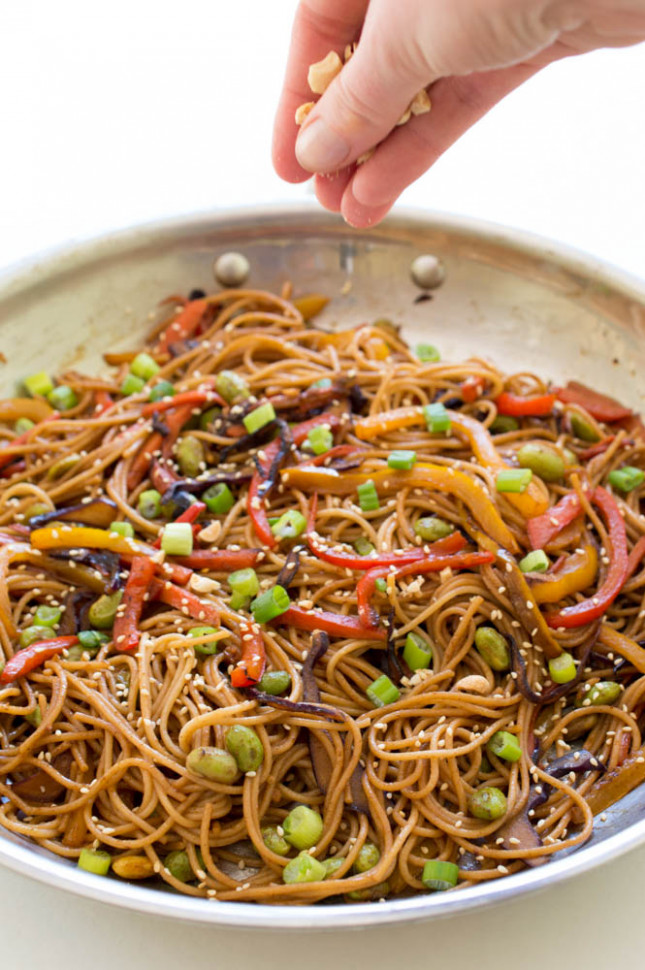 Rainbow Vegetable Noodle Stir Fry - Stir Fry Recipes Vegetarian