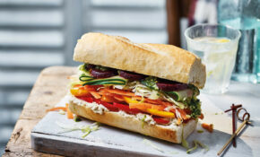 Rainbow Veggie Baguette – Recipes Vegetarian Sandwiches