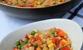 Rainbow Veggie Fried Rice – Recipe Vegetarian Fried Rice