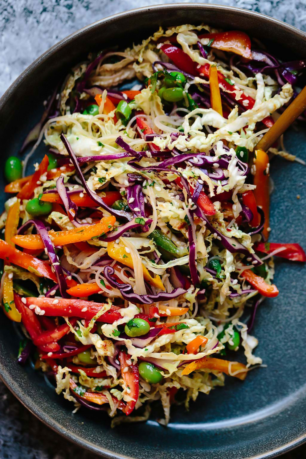 Rainbow Veggie Rice Noodle Bowls - Easy Vegetarian Rice Recipes For Dinner