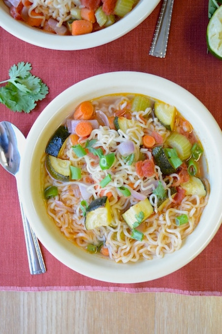 Ramen Vegetable Soup | The First Year - Ramen Recipes Vegetarian