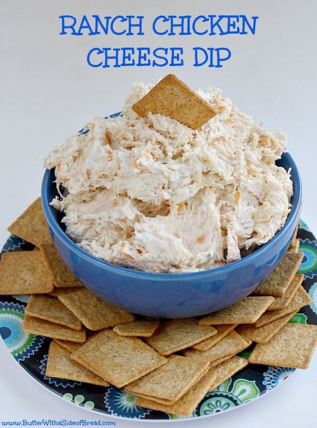 RANCH CHICKEN CHEESE DIP - Butter with a Side of Bread - recipes ranch chicken
