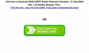 READ [PDF] Weight Watchers Freestyle – 31 Days Meal Plan ..