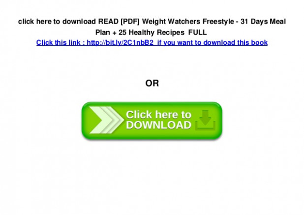 READ [PDF] Weight Watchers Freestyle - 31 Days Meal Plan ..