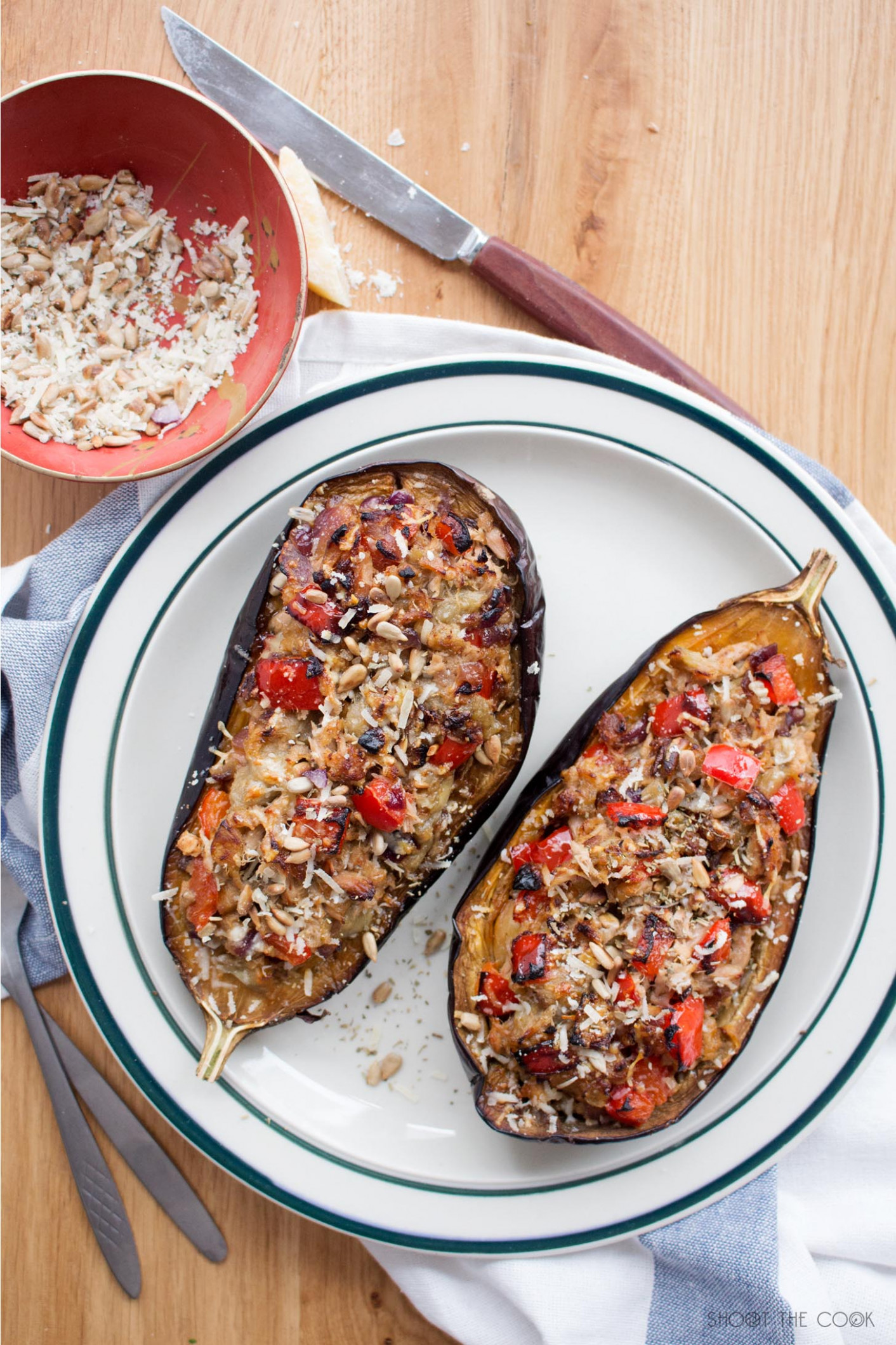 Receta: Berenjenas Rellenas de Carne y Queso - recipes with eggplant healthy