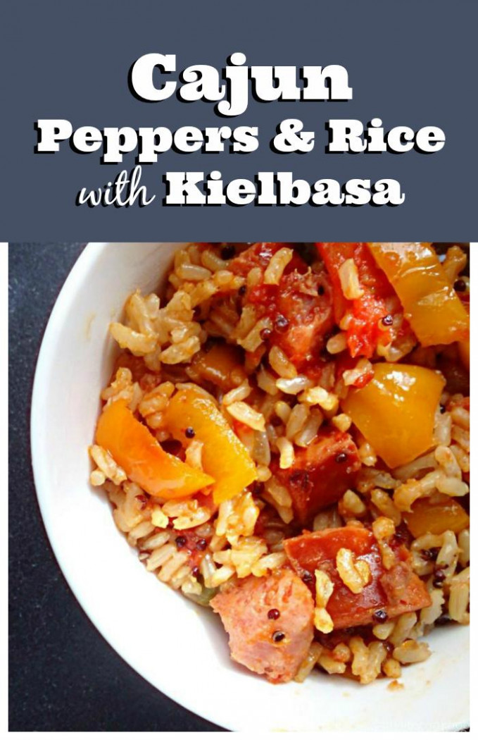 Recipe: Cajun peppers & rice with kielbasa - My Life ..