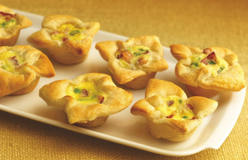 RECIPE: Crescent Bacon-Cheese Tartlets - quick bake recipes dinner