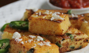 Recipe: Crispy Polenta With Jalapenos And Queso Fresco ..