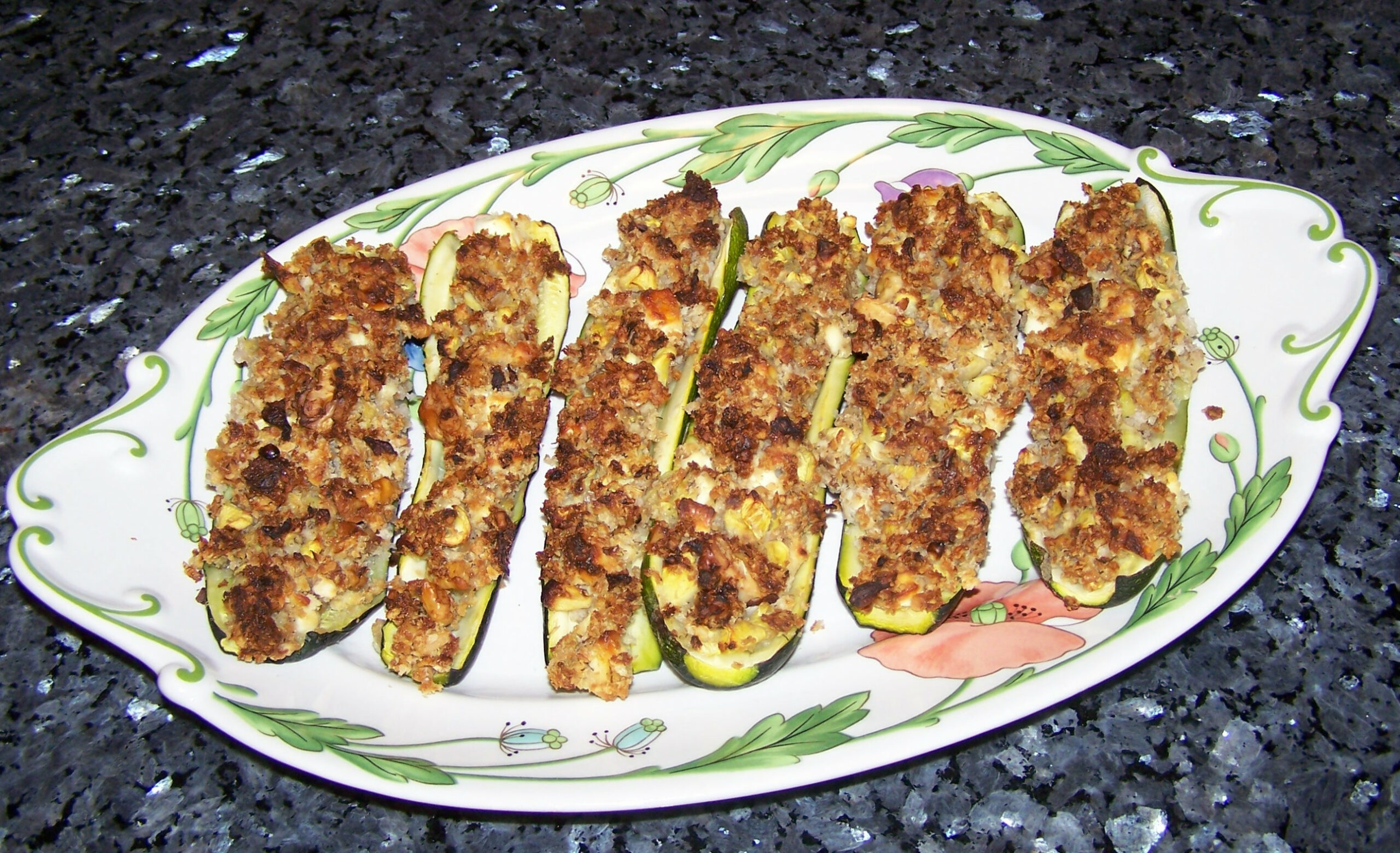 Recipe For Greek Stuffed Zucchini - Quick Cooking - Zucchini Recipes Vegetarian Main Dish