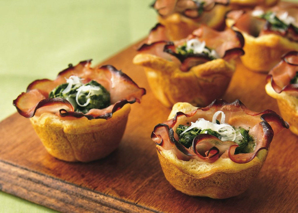 Recipe: Ham Florentine Mini-Cups - baked recipes dinner
