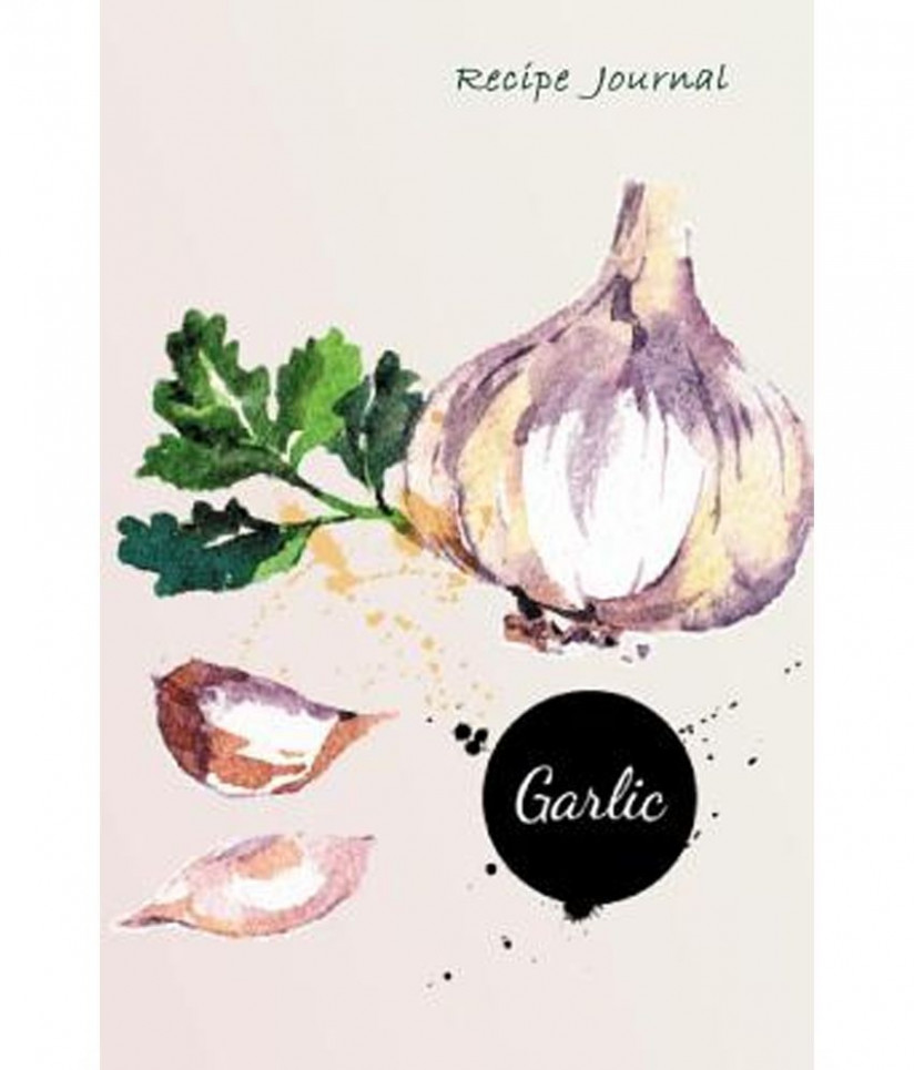 Recipe Journal: Watercolor Garlic Cooking Journal, Lined And Numbered Blank  Cookbook 11 X 11, 11 Pages (Recipe Journals) - Food Recipe Journal
