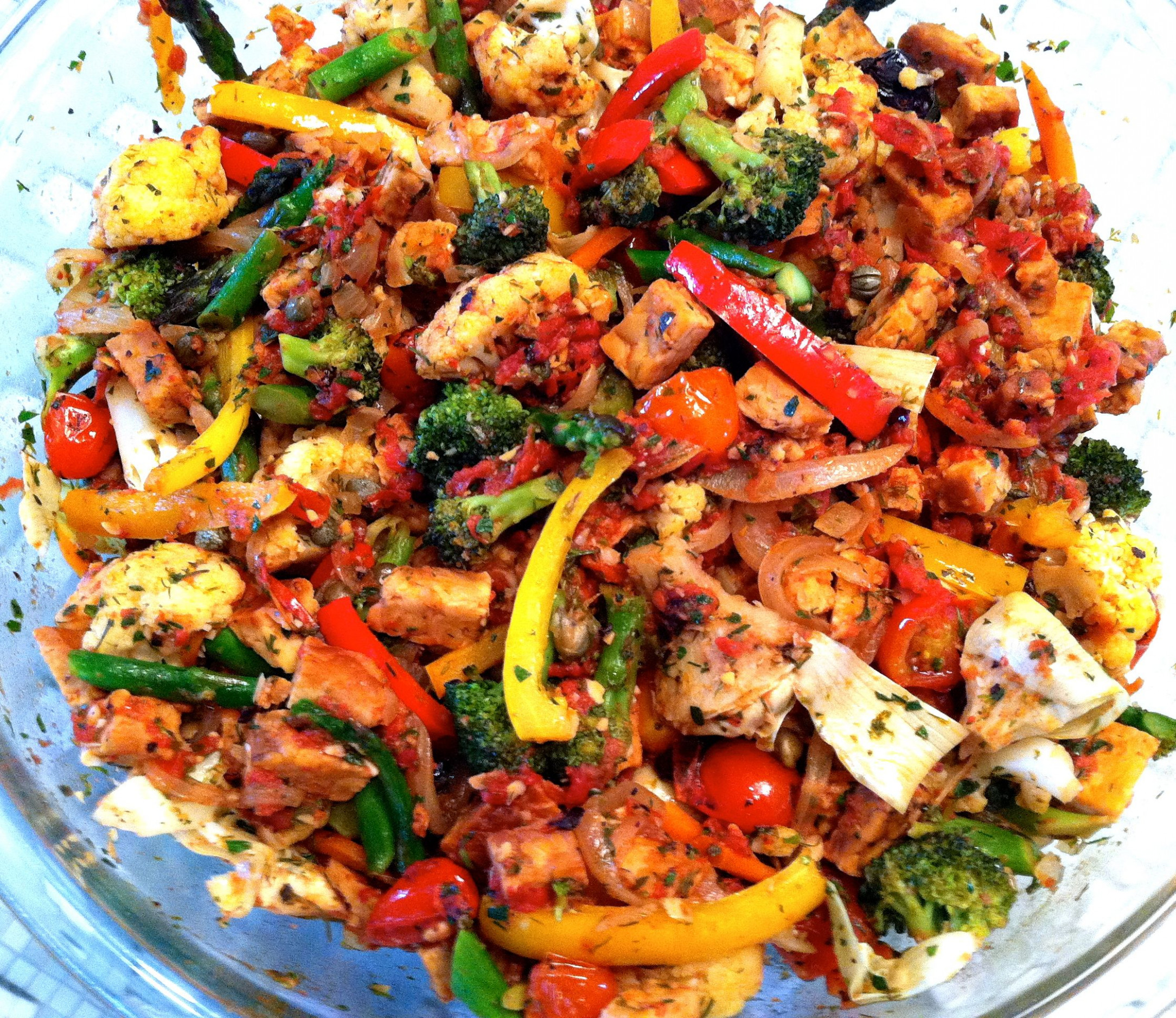 Recipe: Mediterranean Tempeh with Vegetables | iEatGreen - vegetarian mediterranean recipes