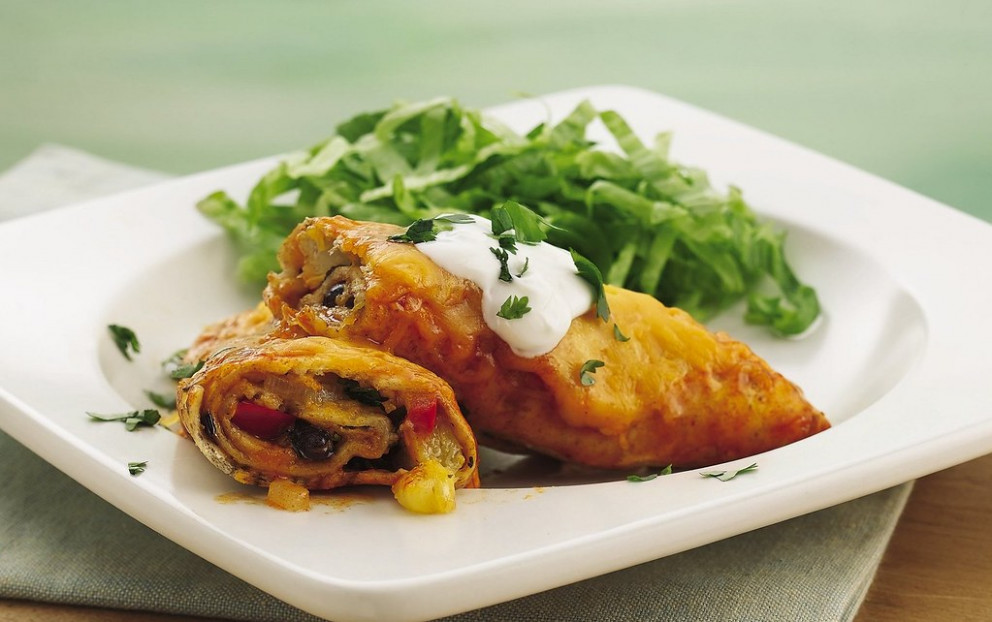 RECIPE: Pineapple-Black Bean Enchiladas - mexican recipes vegetarian
