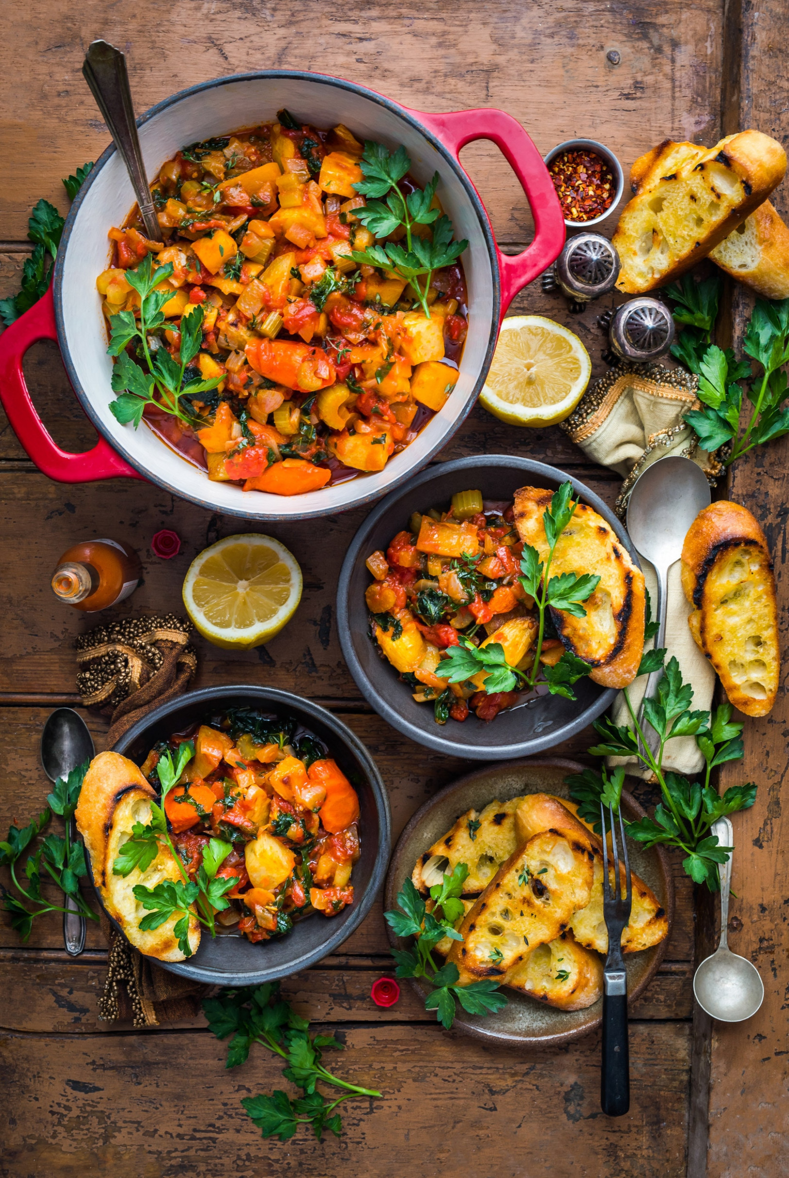 Recipe: Root Vegetable Stew with Rosemary Garlic Baguette ..