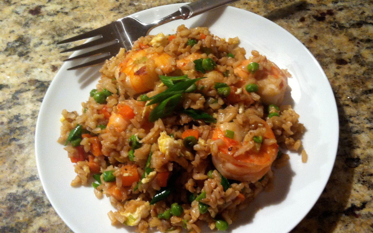 RECIPE] Shrimp Fried (Brown) Rice • EBONY - healthy brown rice recipes