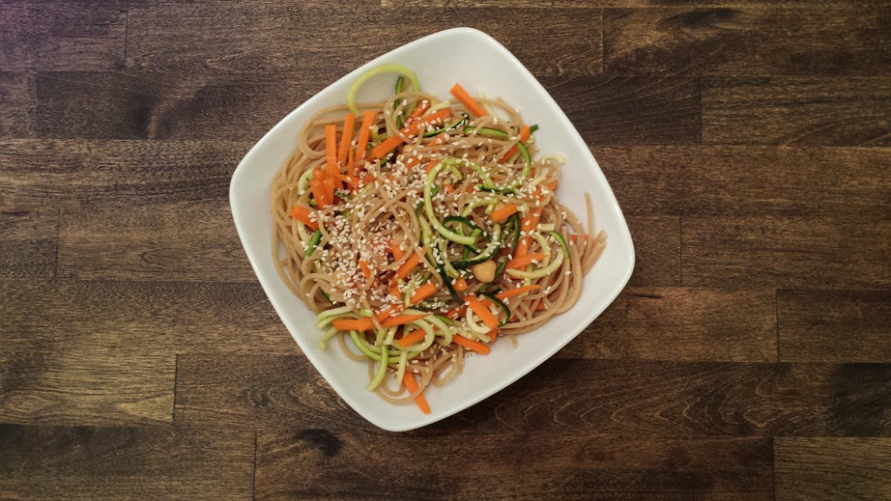 Recipes From Sweet Peas And Saffron. Sooo Delicious!!https://sweetpeasandsaffron.com/cold Sesame Noodle Meal Prep Bowls Vegan/Note: Modifications Made. I Used A Bottled Peanut Sauce Vinaigrette, From Trader Joe's