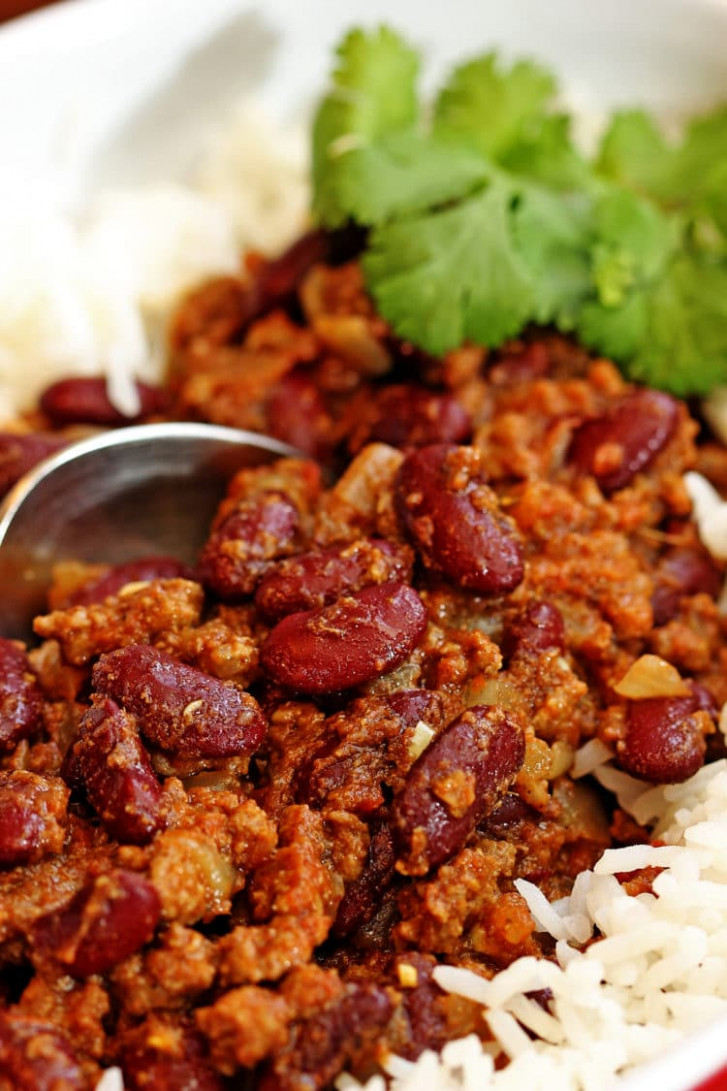 Red Kidney Bean Curry with Lamb (Rajmah Chawal) - healthy kidney bean recipes