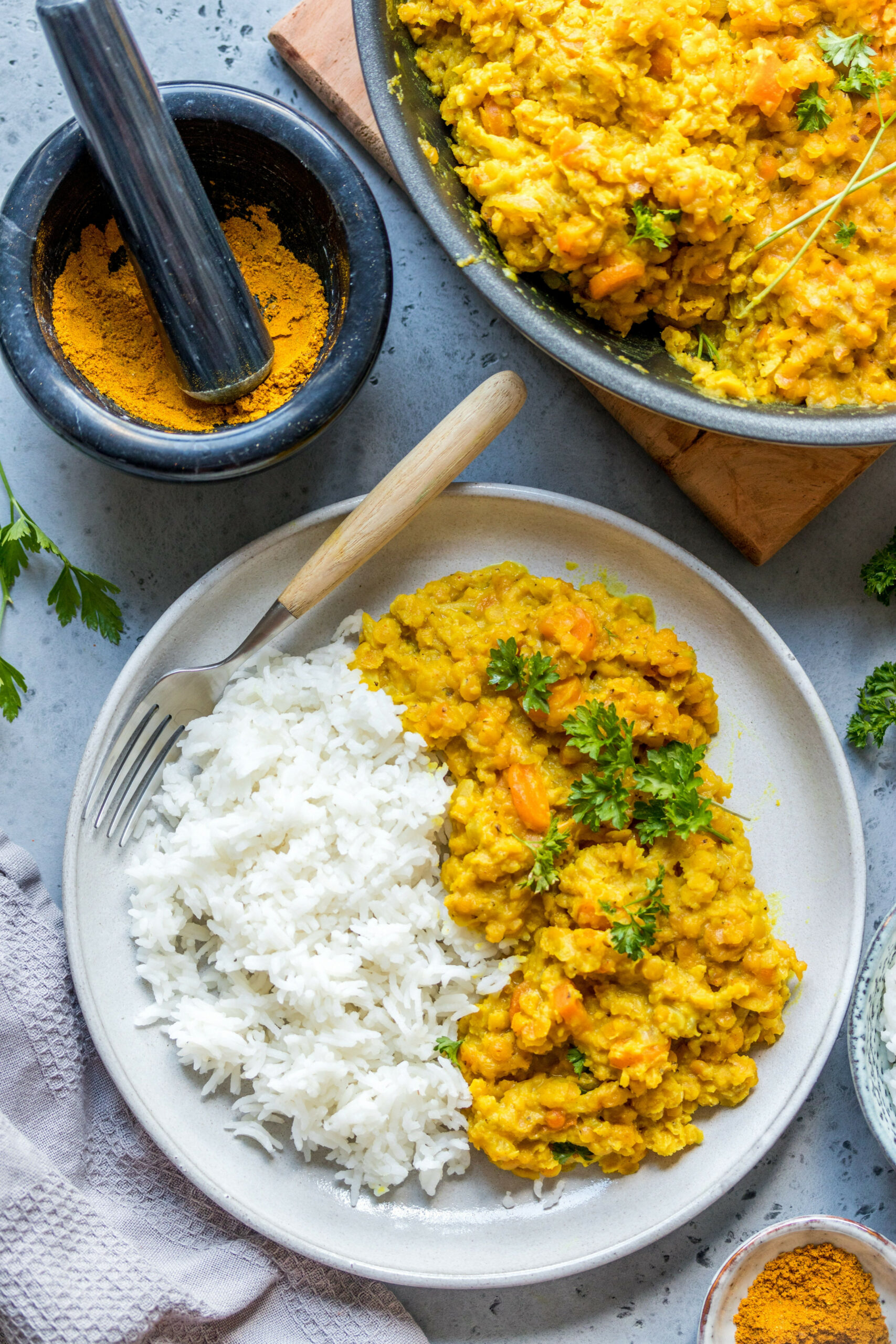 Red lentil curry with coconut milk - coconut milk recipes dinner